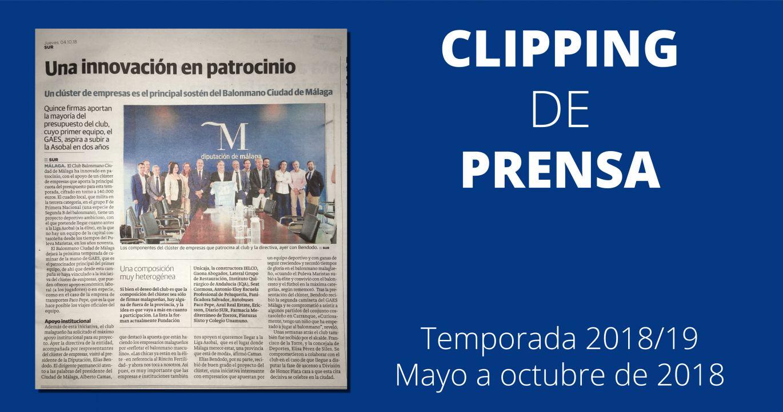 CLIPPING DE PRENSA. TEMP. 2018/19