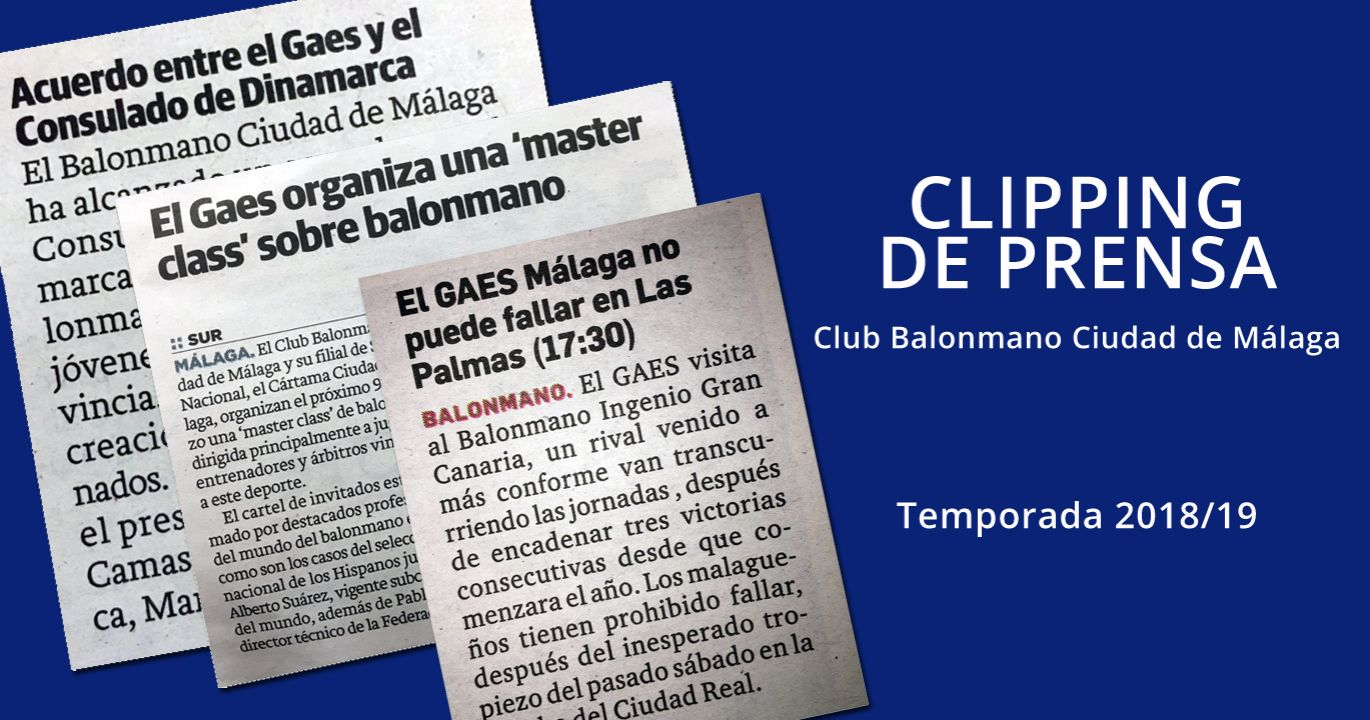 CLIPPING DE PRENSA. TEMP. 2018/19. Junio de 2018 a abril de 2019